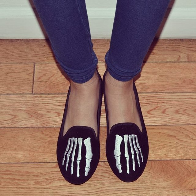 Lavish Bones Slip On Shoes