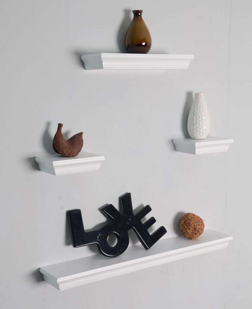 Welland Dover 4-Piece Display Shelves Set
