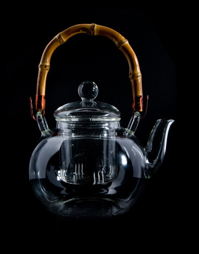 Glass Teapot with Stand & Scoop