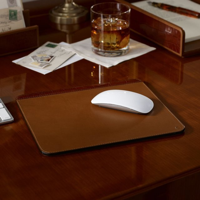 Moore Leather Mouse Pad