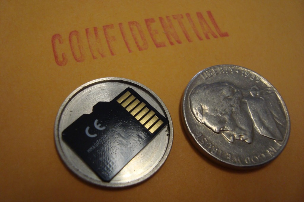 Micro SD Card Covert Spy Coin
