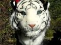Tiger Head Plush Backpack