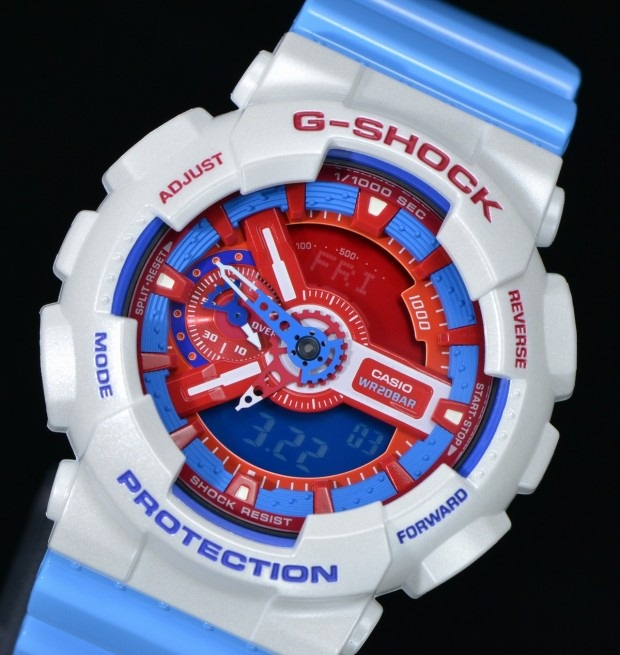 Casio G-Shock Blue & Red Watch