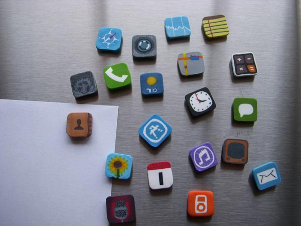 Refrigerator Magnets Iphone Icons