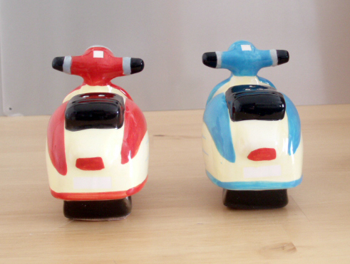 Vespa Scooters Salt & Pepper Shakers