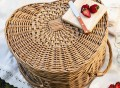 Picnic Time Heart Basket