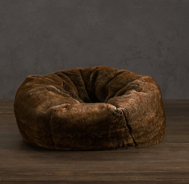 Grand Luxe Faux Fur Bean Bag Chair