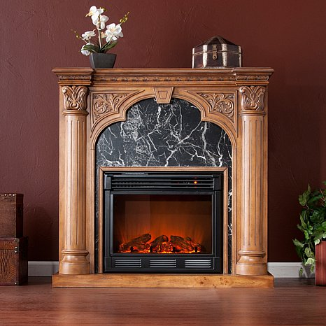 Electric Fireplace – Old World Oak