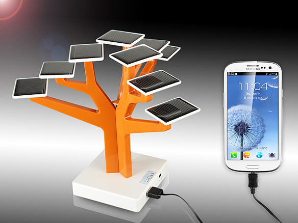 USB Solar Panel Power Charger Tree