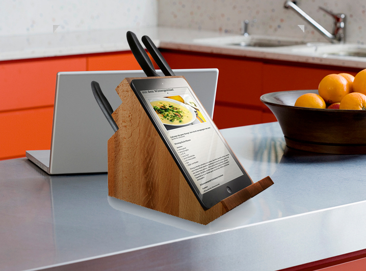 Tablet Knife Block
