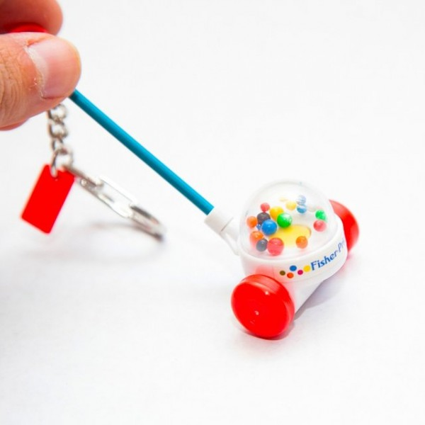 Corn Popper Toy Keychain