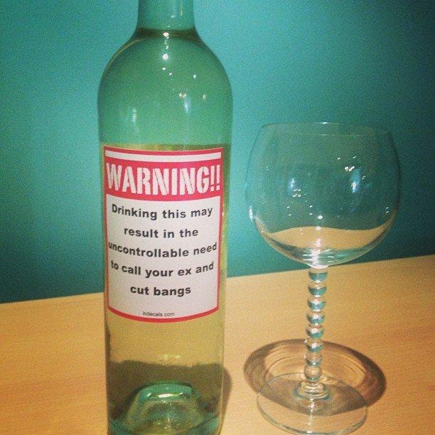 You've Been Warned wine Sticker