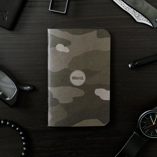 Stealth Camo Notebooks by Word