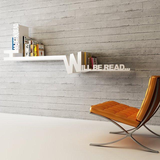 Typographic Bookshelf by Meb Rure