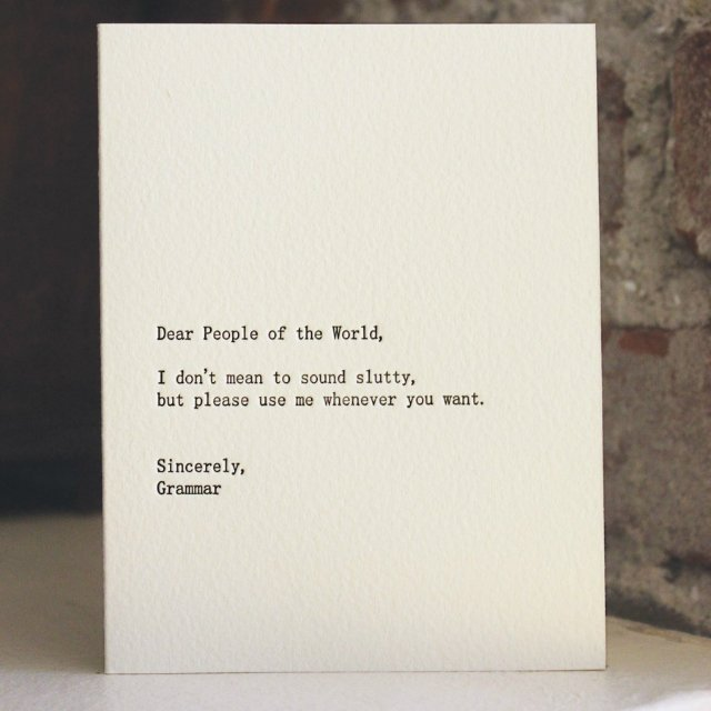 Dear People of the World Letterpress Card