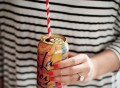 Striped Candy Apple Drinking Straws