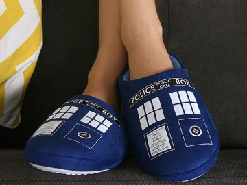 TARDIS Boot Slippers