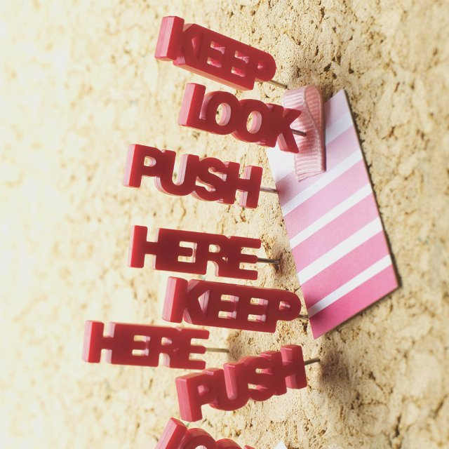 Tell Tale Push Pins