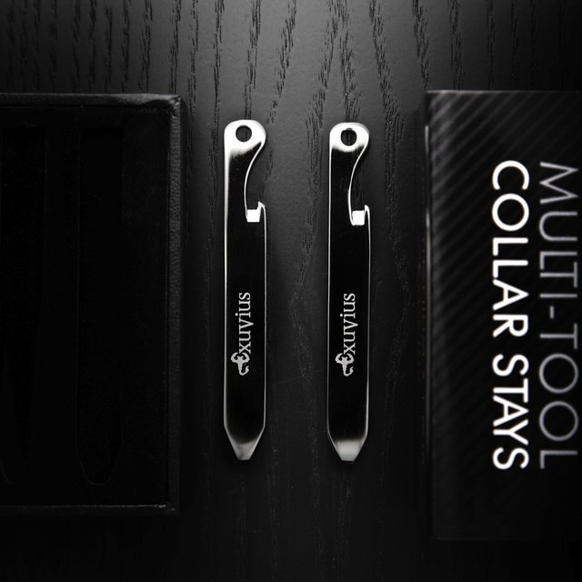 Titanium Multi-Tool Collar Stays by Exuvius