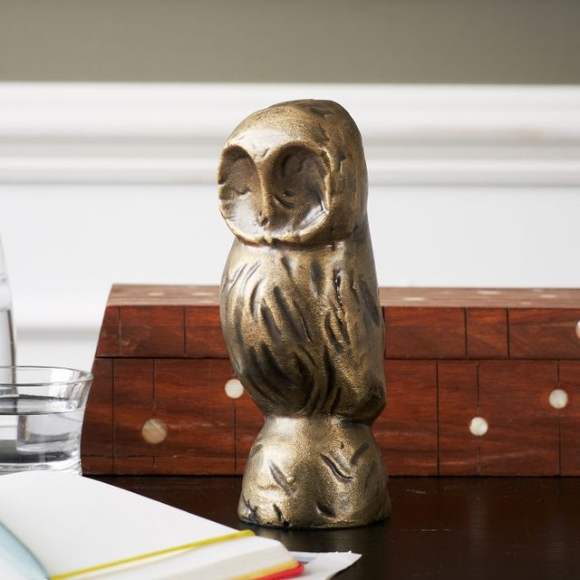 Cast Metal Owl