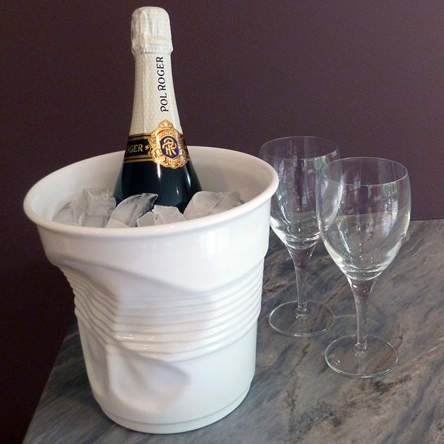 Crumpled Champagne Ice Bucket