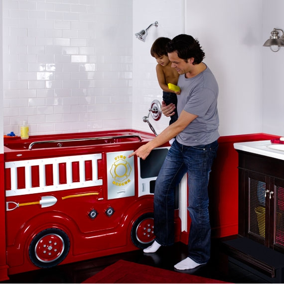 Fierce Fire Truck Design FunBath