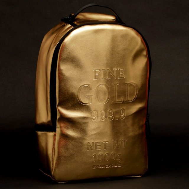 Gold Brick Backpack by Spraygr