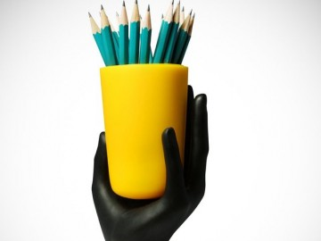 Hand Cup Pencil Holder