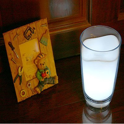 Milk Glass LED Night Light