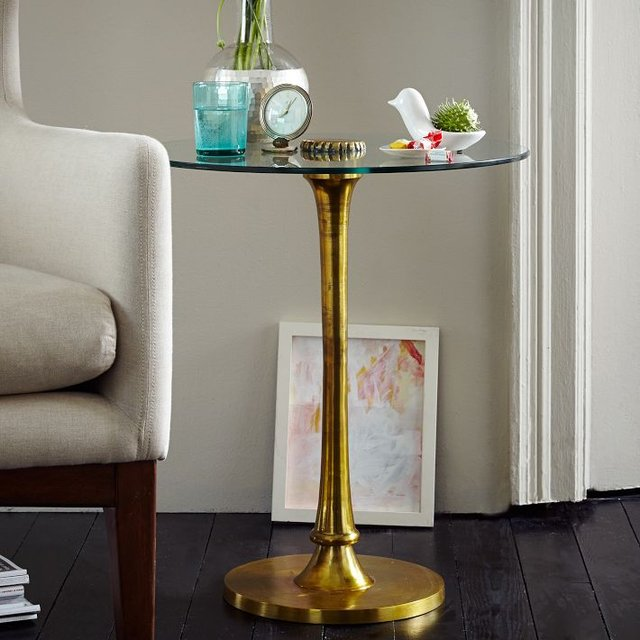 Molded Brass Side Table