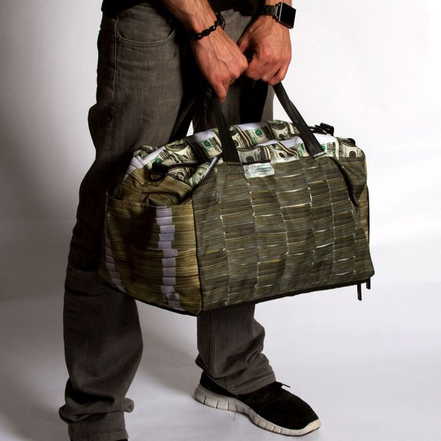 Money Stacks Large Duffle by Sprayground