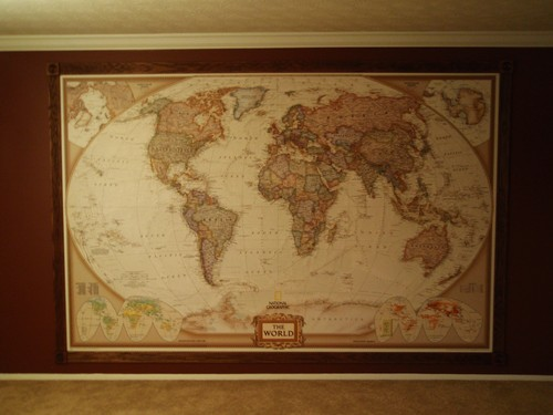 Vintage World Map Wallpaper