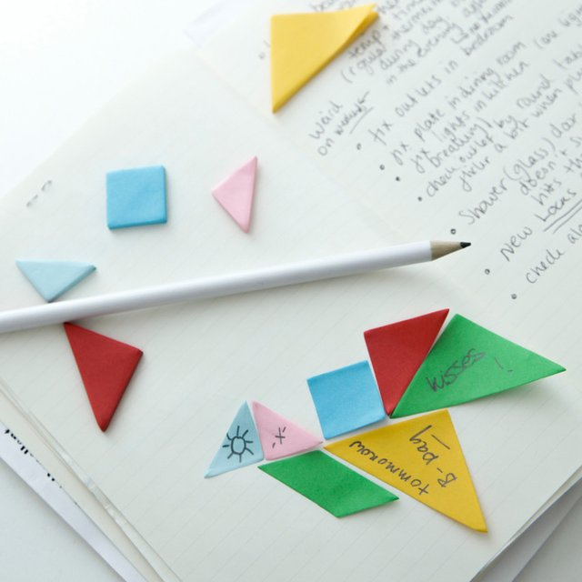 Tangram Sticky Notes