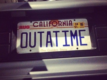 Back to the Future Replica License Plate