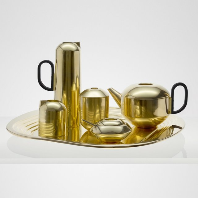 Brass Form Tea Set by Tom Dixon