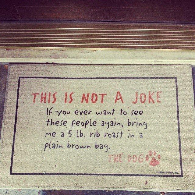 Dog's Not A Joke Doormat