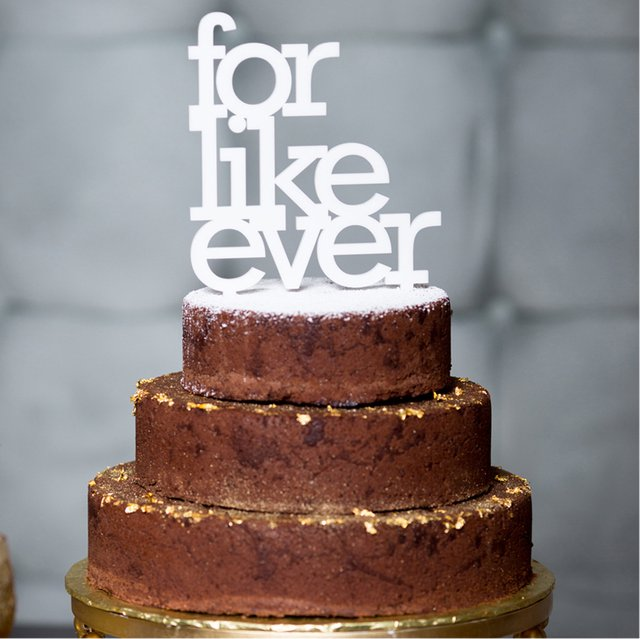 For Like Ever Cake Topper by Oh Dier
