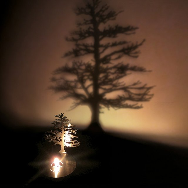 Lumen Tree Oil Lamp by Adam