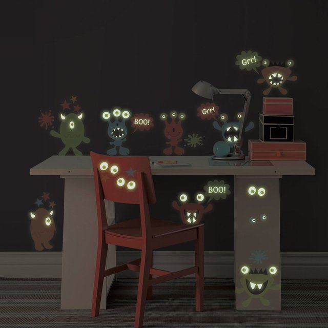 Monsters Glow in the Dark Wall Decals