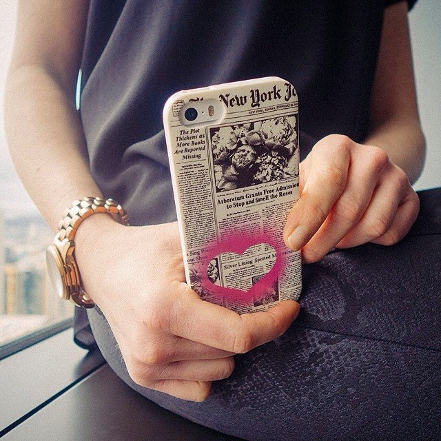 Newspaper iPhone 5/5s Case by Kate Spade