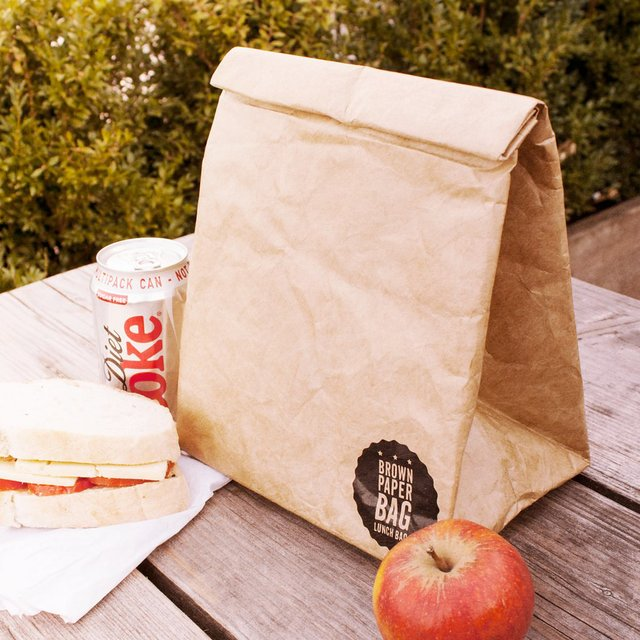 Reusable Brown Paper Lunch Bag