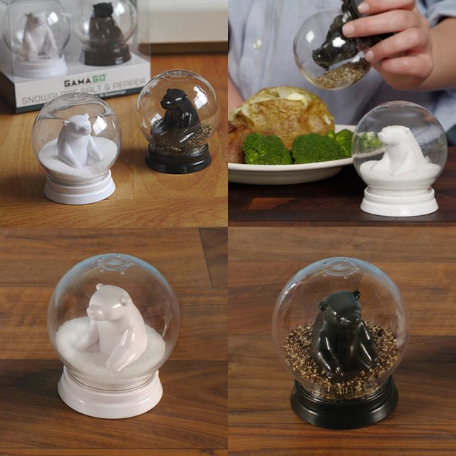 Snow Globe Salt & Pepper Shak CAMERA