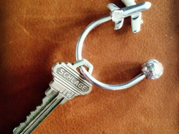 Sterling Airplane Key Ring by Sir Jack's