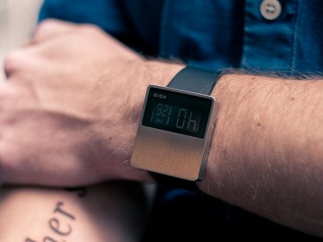 Void LCD Brushed Chrome Watch