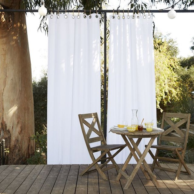 White Outdoor Curtains