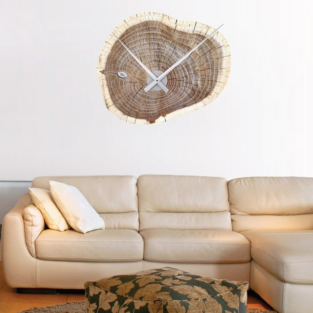 Woodsman Clock Wall Decal by WallsNeedLove