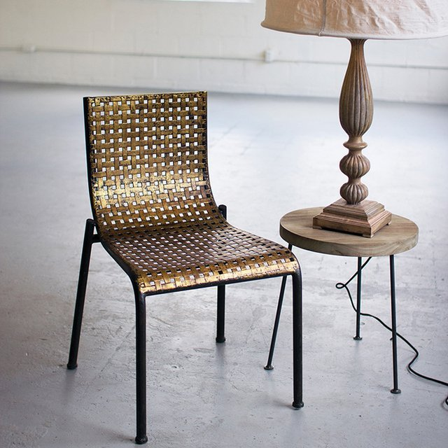Woven Metal Chair