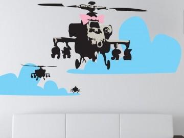 Banksy Happy Chopper Wall Decal