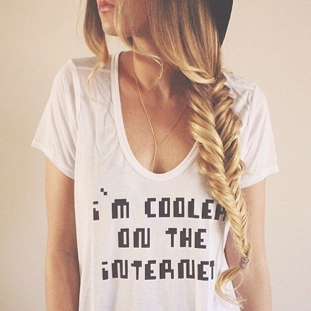 Cooler on the Internet Flowy Tee