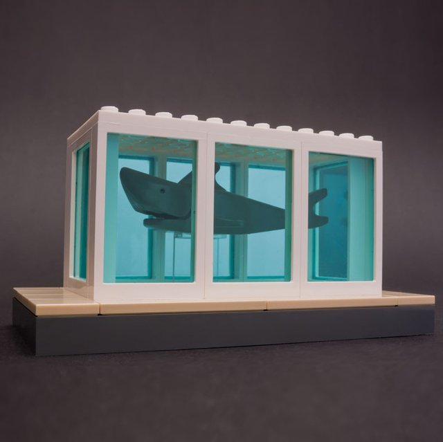 Hirst's Shark Tank Lego Sculpture